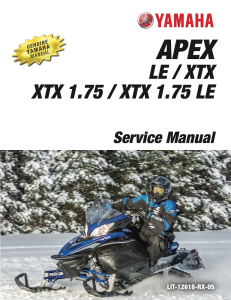 YAMAHA SNOWMOBILE  APEX Workshop & Repair manual | Documents and Forms | Manuals
