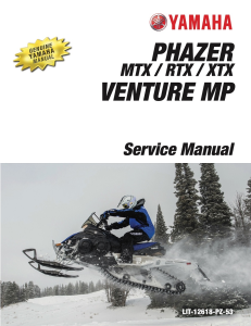 yamaha snowmobile  phazer workshop & repair manual
