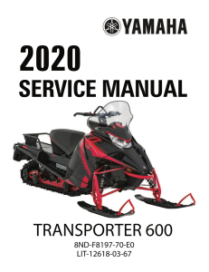 yamaha snowmobile  transporter 600  workshop & repair manual