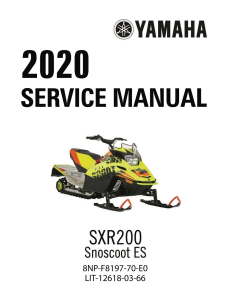 YAMAHA SNOWMOBILE  SXR200  Workshop & Repair manual | Documents and Forms | Manuals