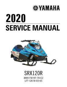 YAMAHA SNOWMOBILE  SRX120R 2020  Workshop & Repair manual | Documents and Forms | Manuals