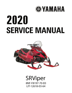 yamaha snowmobile  srviper  workshop & repair manual