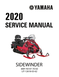 yamaha snowmobile  sidewinder  workshop & repair manual