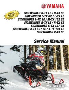 yamaha snowmobile  sidewinder 2017  workshop & repair manual