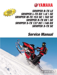 yamaha snowmobile  srviper 2017 workshop & repair manual