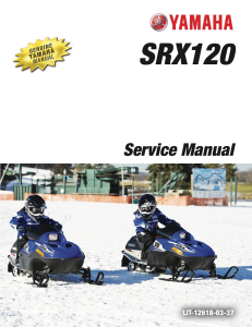 yamaha snowmobile  srx 120 2017  workshop & repair manual