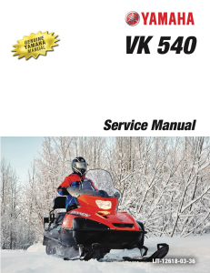 yamaha snowmobile  vk540 2017-2020 workshop & repair manual