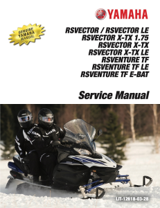yamaha snowmobile  rsvector workshop & repair manual