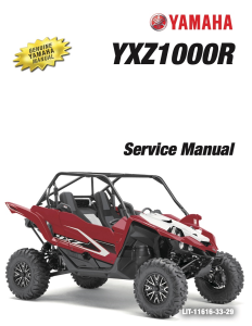YAMAHA SIDE-BY-SIDE  YXZ1000R Workshop & Repair manual | Documents and Forms | Manuals