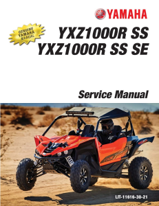 yamaha side-by-side  yxz1000r ss  workshop & repair manual