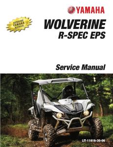 yamaha side-by-side wolverine r  workshop & repair manual