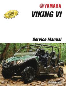 yamaha side-by-side  viking vi  workshop & repair manual