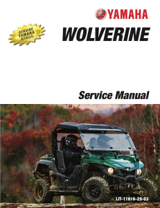 YAMAHA SIDE-BY-SIDE  WOLVERINE  Workshop & Repair manual | Documents and Forms | Manuals