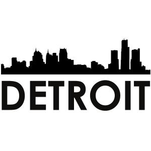 detroit skyline svg | silhouette svg dxf pdf png digital cut vector file svg file