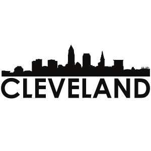 Cleveland Skyline Cleveland SVG - Silhouette Svg Dxf Pdf Digital Cut Vector File Svg File | Photos and Images | Concept