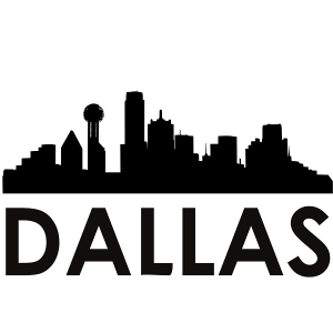 dallas skyline dallas svg - dallas skyline silhouette svg dxf pdf png jpg digital cut vector file svg file