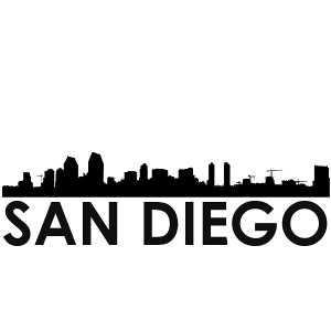 San Diego Skyline San Diego SVG - San Diego Skyline Silhouette Svg Dxf Pdf Png Jpg Digital Cut Vector File Svg File | Photos and Images | Industrial