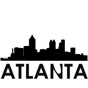 atlanta skyline atlanta svg - atlanta skyline silhouette svg dxf pdf png jpg digital cut vector file svg file