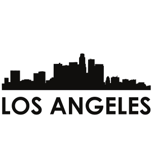 los angeles skyline los angeles svg - los angeles skyline silhouette svg dxf pdf png jpg digital cut vector file svg file