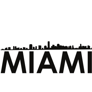 miami skyline miami svg - miami skyline silhouette svg dxf pdf png jpg digital cut vector file svg file