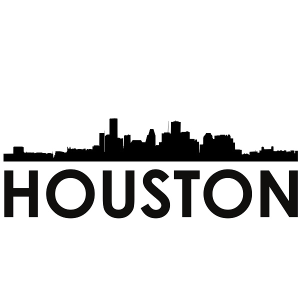 houston skyline houston svg - houston skyline silhouette svg dxf pdf png jpg digital cut vector file svg file