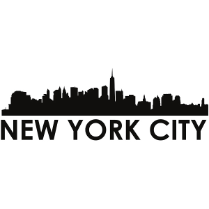 new york city skyline new york city svg - new york city skyline silhouette svg dxf pdf png jpg digital cut vector file svg file