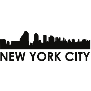 new york city skyline new york city svg - new york city skyline silhouette svg dxf pdf png jpg digital cut vector file svg file commerical use