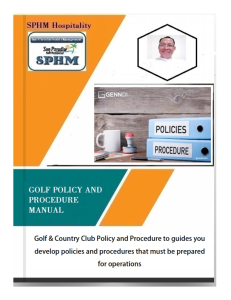 golf - policy and procedure manual