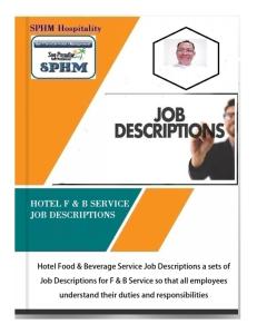 hotel - f&b service job description
