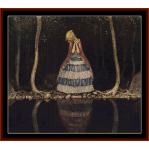 The Dark Lake- John Bauer cross stitch pattern by Cross Stitch Collectibles | Crafting | Cross-Stitch | Other