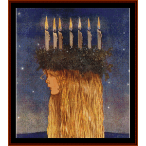 lucia - john bauer cross stitch pattern by cross stitch collectibles