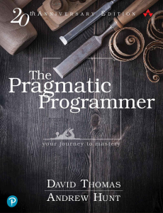 The Pragmatic Programmer | eBooks | Arts and Crafts
