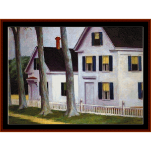 two puritans - edward hopper cross stitch pattern by cross stitch collectibles