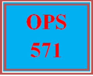 OPS 571T Wk 5 – Practice Week 5 Knowledge Check | eBooks | Education