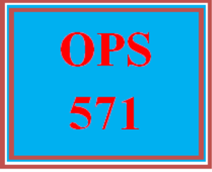 OPS 571T Wk 6 – Apply Week 6 Assignment | eBooks | Education