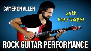 rock guitar performance tabs