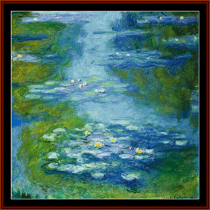 Waterlilies VI - Monet cross stitch pattern by Cross Stitch Collectibles | Crafting | Cross-Stitch | Other