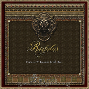 regulus printable treasure & gift box