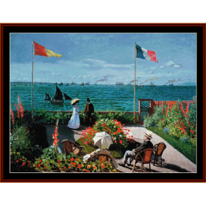 The Terrace at Ste. Adresse  - Monet cross stitch pattern by Cross Stitch Collectibles | Crafting | Cross-Stitch | Other