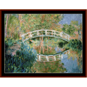 Japanese Bridge VI  - Monet cross stitch pattern by Cross Stitch Collectibles | Crafting | Cross-Stitch | Other