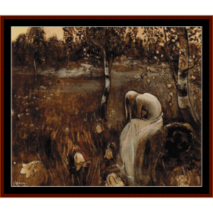 at dawn - john bauer cross stitch pattern by cross stitch collectibles