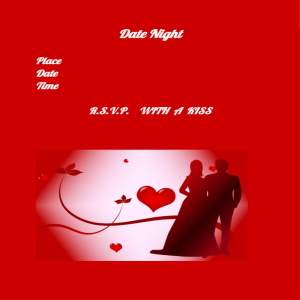date night lovers card