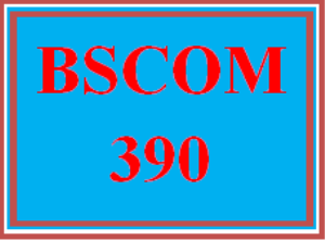 BSCOM 390 Entire Course | eBooks | Education