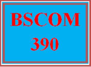 BSCOM 390 Wk 1 - Team: Learning Team Charter   eBooks   Education