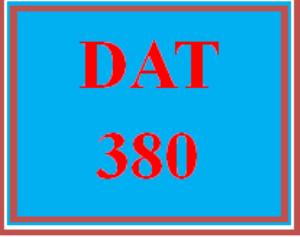 DAT 380 Wk 2 - Practice: Critical Thinking Exercises   eBooks   Education
