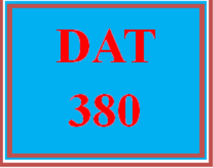 DAT 380 Wk 5 - Apply - Post-Course Assessment Quiz | eBooks | Education