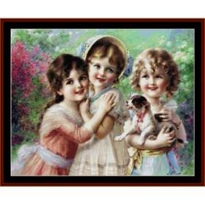 Best of Friends  - Emile Vernon cross stitch pattern by Cross Stitch Collectibles | Crafting | Cross-Stitch | Other