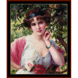 summer rose  - emile vernon cross stitch pattern by cross stitch collectibles