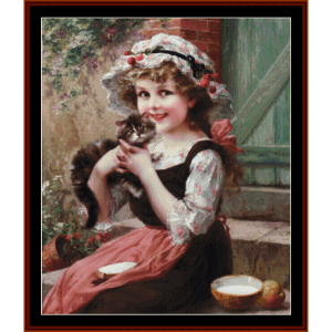 the little kitten - emile vernon cross stitch pattern by cross stitch collectibles