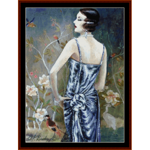 mademoiselle - vintage cross stitch pattern by cross stitch collectibles